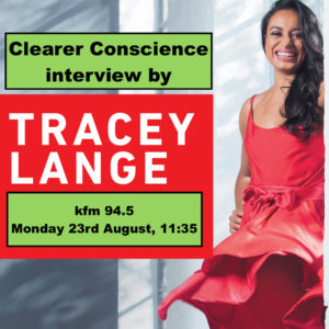 Clearer Conscience recycling interview by Tracey Lange kfm 94.5